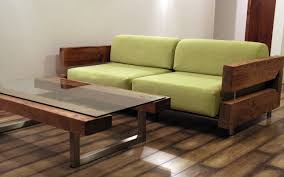Wooden Sofas Reclaimed Wood Couch And Coffee Table By Ticino Design Www