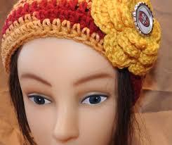 crochet hairband crochet headband 49ers all products mila s creations