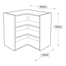 how to fit howdens corner fillet white 720mm x 631mm x 631mm ready assembled corner wall