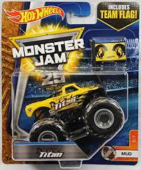 wheels monster truck jam wheels monster jam 1 64 scale truck with team flag yellow