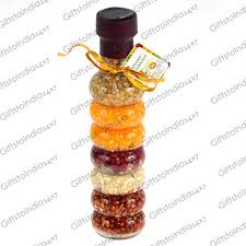 Online Home Decor Items India Send Food Infused Vinegar Bottle Of Glass For Kitchen Decoration