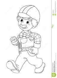construction worker coloring pages construction worker hat