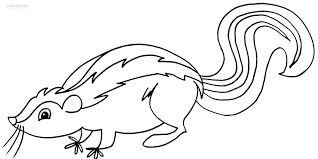 skunk coloring pages coloring free coloring pages