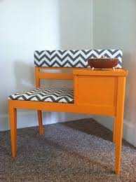 Bench Love Reupholstered Telephone Table Reminds Me Of Grandmas House