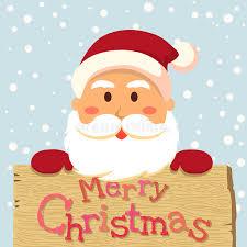santa merry board stock vector illustration of banner 74309594