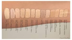 tarte light medium neutral tarte shape tape swatches light medium under eye concealer comparison