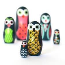 owl russian doll set berylune