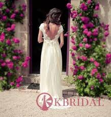 Wedding Dress Elegant Backless Lace Wedding Dress Open Back Beach Wedding Dresses Ivory