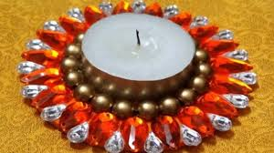 Diwali Decoration Ideas At Home Waste Material Diwali Diya Decoration Ideas At Home Youtube