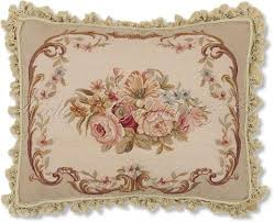 floral aubusson needlepoint pillow from richard rothstein