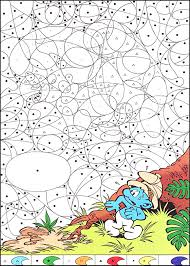 magical smurf magical coloring pages for kids to print u0026 color