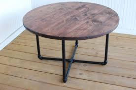 Industrial Wood Coffee Table by Industrial Round Pipe Coffee Table Round Wood Coffee Table