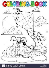 colour pet dog puppy paint painted colouring book art