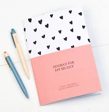 wedding planner notebook hooray for my big day wedding planner notebook by bread jam