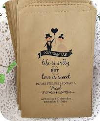popcorn sayings for wedding personalized popcorn bar bags popcorn bar rustic wedding