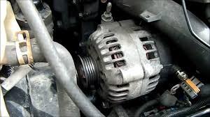 replacing the alternator or belt tensioner on oldsmobile alero 2 4