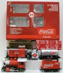 here is an lgb 72428 g scale coca cola starter set this is