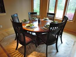 Black Wood Dining Table Wood Dining Table For 8 Small With Leaf Room Sets Six Chairs