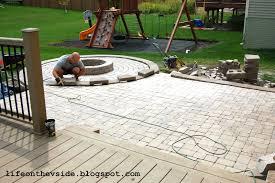 Build Paver Patio Laying A Paver Patio Free Home Decor Oklahomavstcu Us