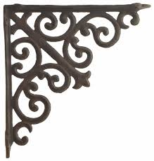 cast iron ornate curl shelf bracket brace for custom shelves