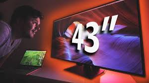 43 4k monitor is this big for gaming