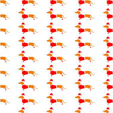 dachshund christmas wrapping paper background with dachshund in christmas suit stock vector