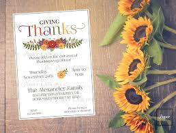 thanks giving thanksgiving invitation paper willow market