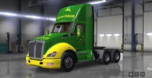 custom kenworth trucks kenworth t680 john deere mod mod ats mod american truck