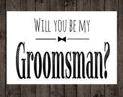will you be my best groomsmen icing cards typewriter