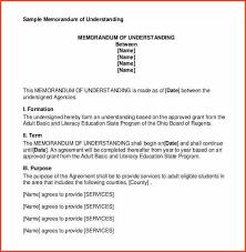 memorandum of understanding template memorandum of understanding