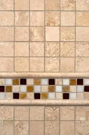 ivory travertine and glass stone border backsplash tile msi