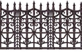 creepy fence border decorations u0026 props