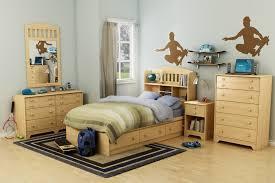 bedroom furniture for kids open book shelf beneath pink wall paint