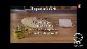 recette cuisine 2 telematin gourmand baguette apéritive ail et pesto 2 23 03 2017