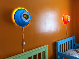 smila wall lamps into custom kids u0027 super hero night lights ikea