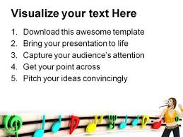 colorful notes music powerpoint templates and powerpoint