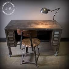 Small Vintage Desks Unique Vintage Industrial Solid Steel Desk With Fostoria L With