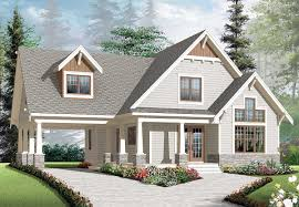 New American Home Plans House Plans With Rear Carport House Design Plans