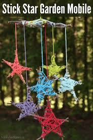 stick star garden mobile fun u0026 easy nature craft for kids