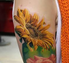 yellow flower tattoos sunflower tattoos tattoo com