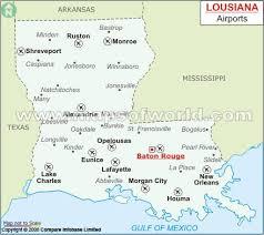 louisiana geographical map buy louisiana airports map