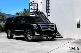 cadillac escalade black rims status wheels s836 hurricane wheels south custom wheels