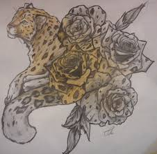 Leopard Print Flower Tattoos - leopard rose tattoo by bubblecrazy on deviantart