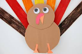 popsicle stick turkey craft for