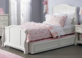 White Sleigh Bed Snow White Size Trundle Sleigh Bed