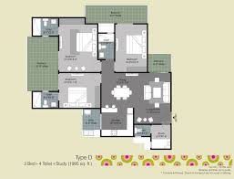 Layout Of Floor Plan Gulshan Ikebana Floor Plan Noida Expressway