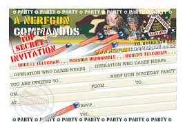 stunning nerf birthday party invitations theruntime com