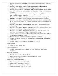 amazing resume for inplant training ideas simple resume office