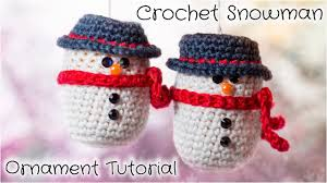 crochet snowman ornament tutorial