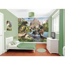 washington wallcoverings 120 in h x 219 in w distressed multi w dinosaur land wall mural